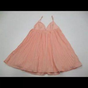 Tobi Pink Dress - pleated; size small
